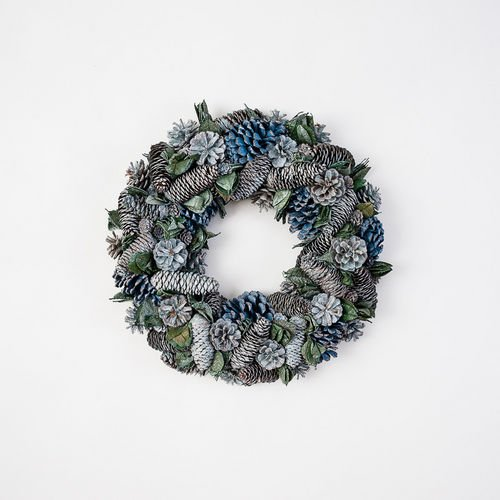 17″ Pine Cone Christmas Wreath by 180 Degrees