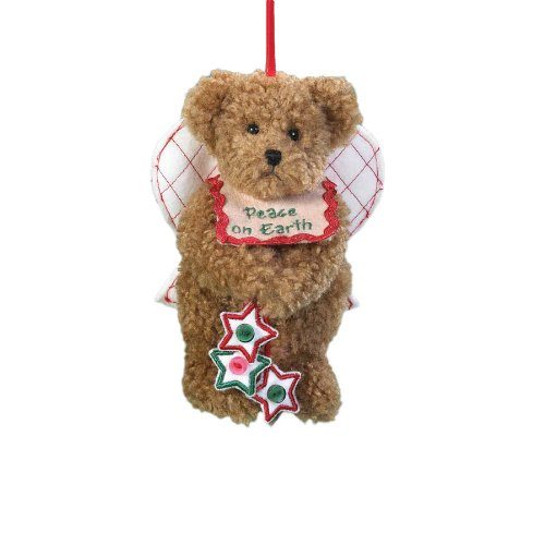Boyd's Bears by Enesco Collectible Haley Plush Holiday Sentiment Ornament
