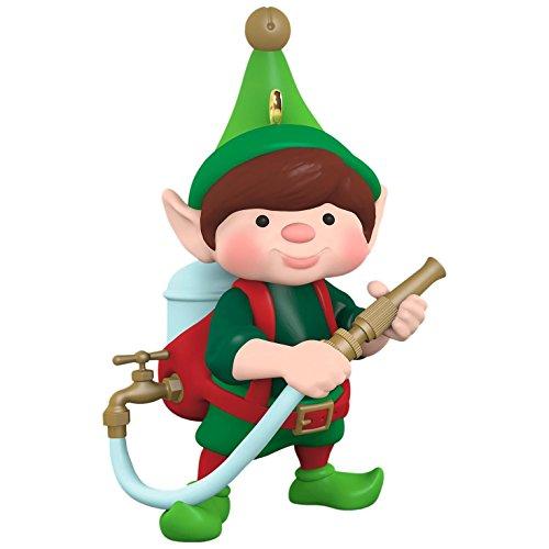 Hallmark Keepsake 2017 North Pole Tree Trimmers Tree Watering Elf Christmas Ornament