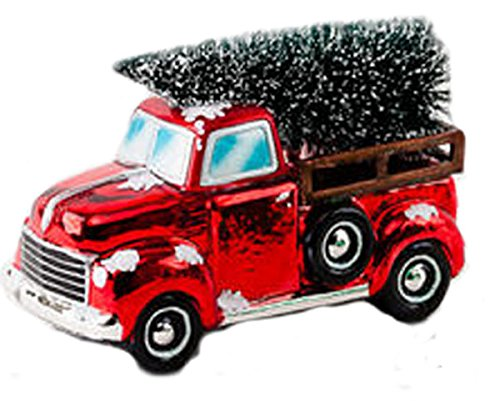 One Hundred 80 Degrees Vintage Pick Up Truck Tabletop Holiday Decoration (Red)