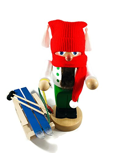 Steinbach Nutcrackers Troll Winter with Sleigh 11 Inches Tall Kurt Adler Brand New Hand Made in Germany
