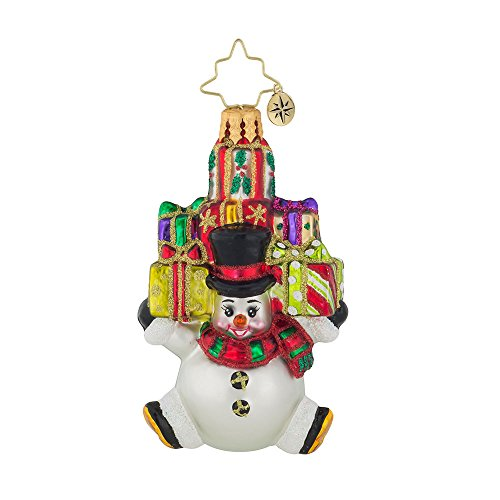 Christopher Radko Snow Stacked Gifts Little Gem Christmas Ornament