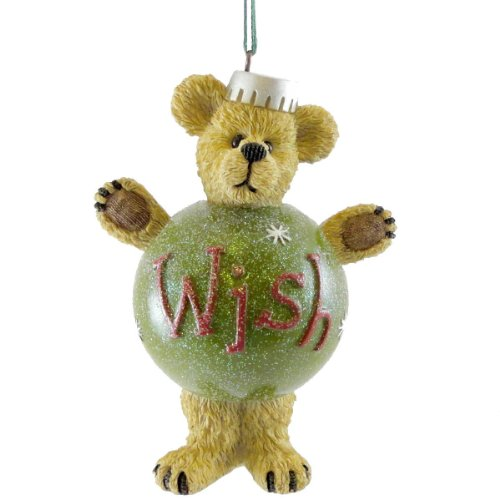 Boyds Bears Resin WISH ORNAMENT Polyresin Christmas Bearstone 4016675