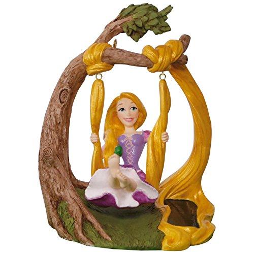 Hallmark Keepsake 2017 Disney Tangled Rapunzel In the Swing Solar Motion Christmas Ornament