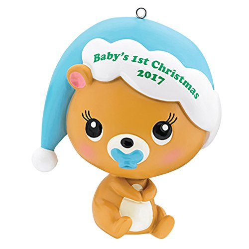 Carlton Heirloom Ornament 2017 Baby's First Christmas – Boys – #CXOR008M