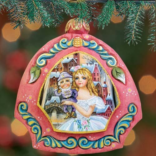 G. Debrekht Nutcracker Scenic Ornament, 3.5″
