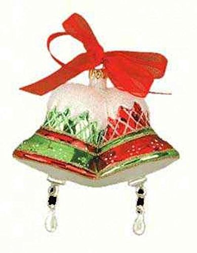 Cobane Studio LLC COBANEB211 Merry Bells Red and Green Ornament