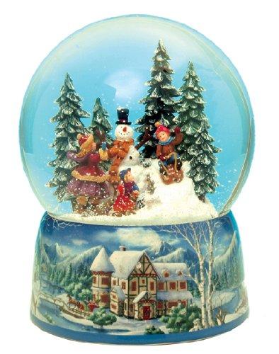 "MusicBox Kingdom 48039 Snowman Snow Globe Music Box, Plays The Melody ""Leise Rieselt der Schnee"""