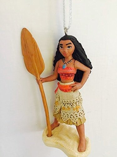 Disney Princess Moana Girl Holiday Christmas Tree Ornament PVC Figure 3.5″ Figurine