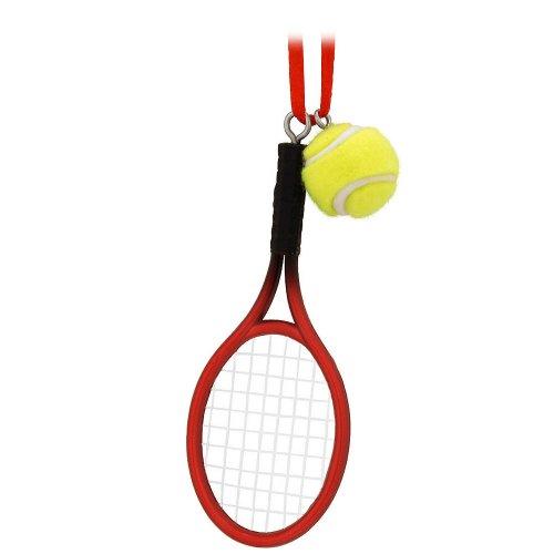 Kurt Adler Tennis Racket with Ball Christmas Ornament