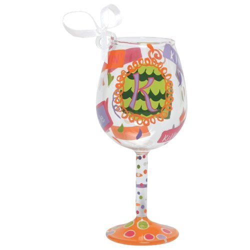 Santa Barbara Studio ORN5-5515K Lolita Mini Wine Ornament – Letter K