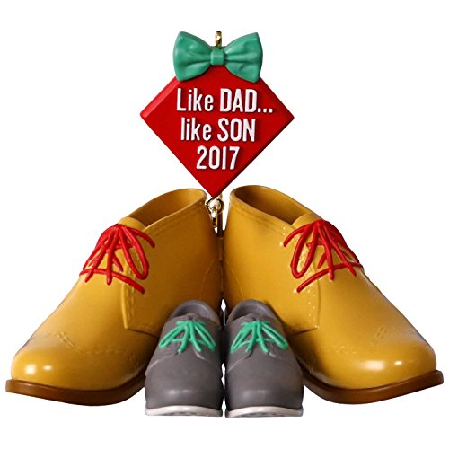 Hallmark Keepsake 2017 Dress Shoes Like Dad, Like Son Dated Christmas Ornament