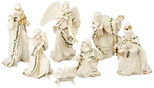 Lenox Holiday Nativity, Set of 7 (Holy Family, Three Kings, Angel)