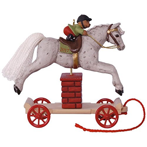 Hallmark Keepsake 2017 A Pony for Christmas Jumping Horse Christmas Ornament