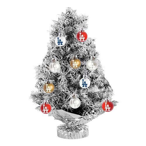 Los Angeles Dodgers 11-pc. Tabletop Tinsel Christmas Tree and Ornament Set