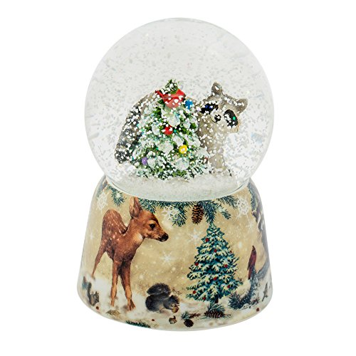 Roman – MUS 4.75″ RACOON GLITTERDOME 80MM W/DECAL BASE
