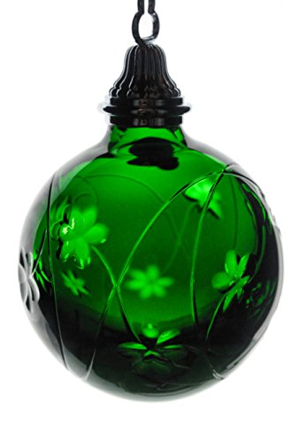 Waterford 2006 Emerald Green Cased Crystal Shamrock Ball Ornament