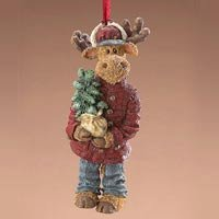 Boyds Bears Chrismoose Ornament Retired 25015