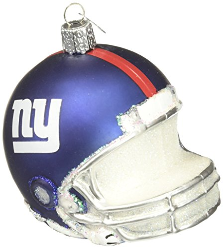 Old World Christmas New York Giants Helmet Glass Blown Ornament