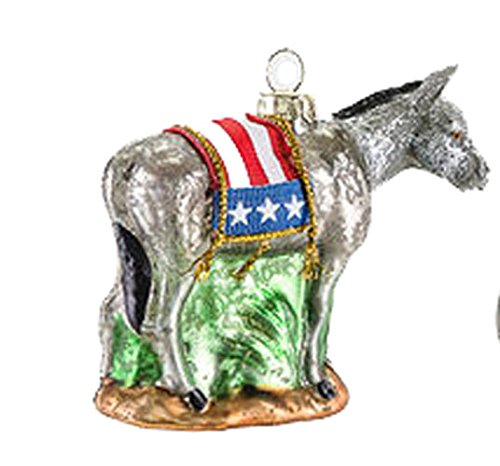 One Hundred 80 Degrees Political Party Hanging Ornament (Democrat)