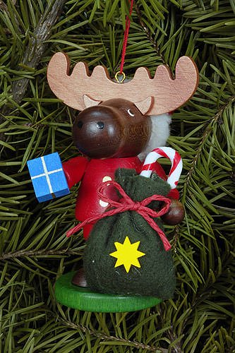 Tree ornaments Tree ornament Moose Santa – 9,5cm / 4 inch – Christian Ulbricht