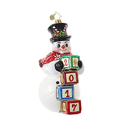 Right On Time Snowman Ornament by Christopher Radko