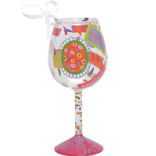 Santa Barbara Design Studio Lolita Holiday Mini-Wine Ornament, Letter E