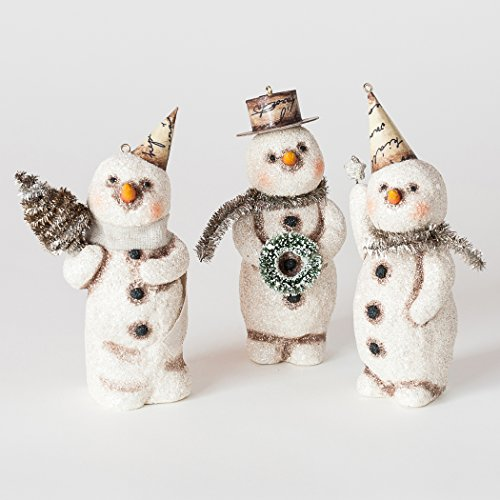 Vintage Style Snowman Ornament (Star)
