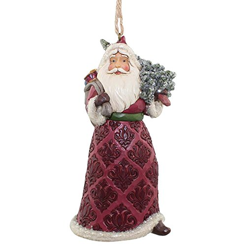 Enesco Jim Shore Heartwood Creek Victorian Santa with Tree Ornament
