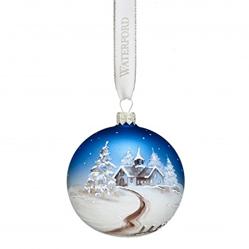 Waterford Winter Frost Hand Painted Scene Ball Ornament