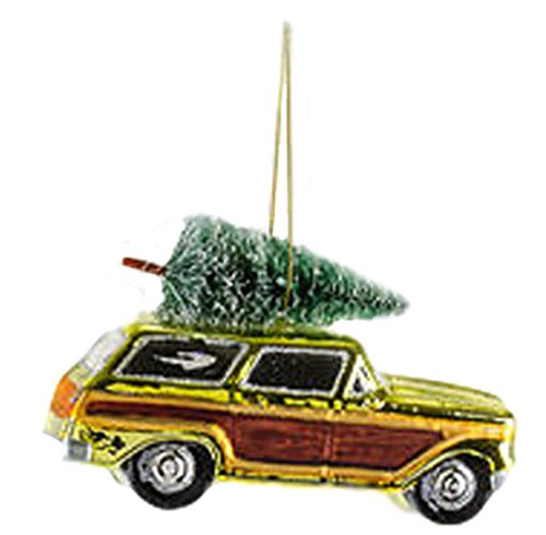 One Hundred 80 Degrees Woody Station Wagon Hanging Ornament (Green)