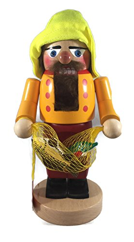 Steinbach Nutcrackers Wooden Chubby Sea Fisherman 11 Inches Tall Collectible Christmas Figures Kurt Adler Brand New Hand Made in Germany