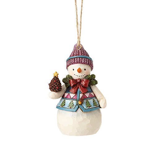 Enesco Jim Shore Heartwood Creek Mini Snowman with Pinecone Ornament