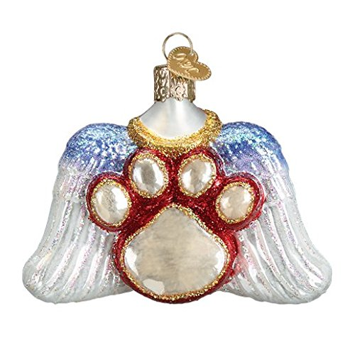 Old World Christmas Beloved Pet Paw & Angel Wing Memorial Ornament