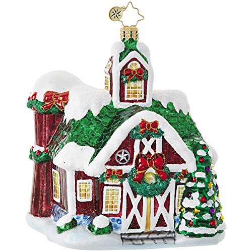 Christopher Radko Farm Fiesta Cottages & Houses Christmas Ornament