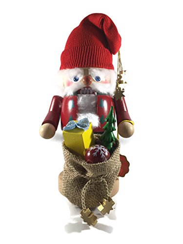 Steinbach Nutcrackers Wooden Troll Santa With Gift Sack 11 Inches Tall Collectible Christmas Figures Kurt Adler Brand New Hand Made in Germany