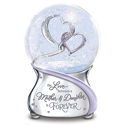 The Love Between Mother and Daughter Is Forever Musical Glitter Globe From Mom by The Bradford Exchange