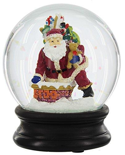 RAZ Imports 5″ Resin Santa in a Chimney Snow Globe