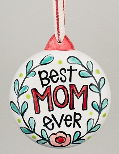 Best Mom/Dad Ever Christmas Ornament – Glory Haus 4″ Puff Ornament (Mom – Red)