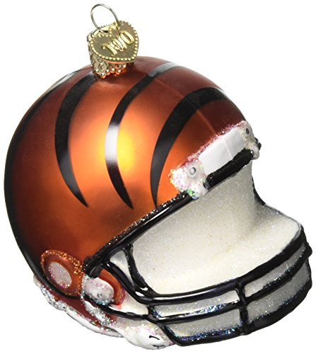 Old World Christmas Cincinnati Bengals Helmet Glass Blown Ornament