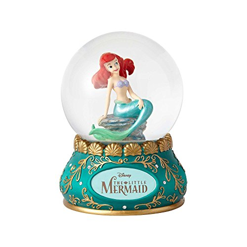 Enesco Disney Showcase the Little Mermaid Stone Resin and Glass Waterball, 5.5""