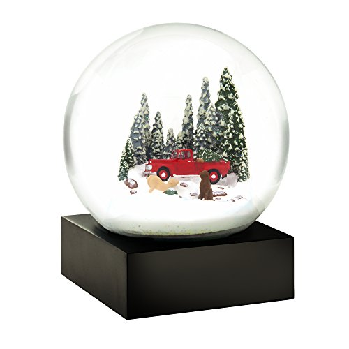 Red Truck and Dogs Cool Snow Globe by CoolSnowGlobes