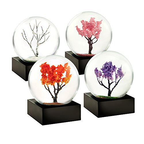 Four Seasons Winter Spring Summer Autumn Set of Four Mini Cool Snow Globe by CoolSnowGlobes