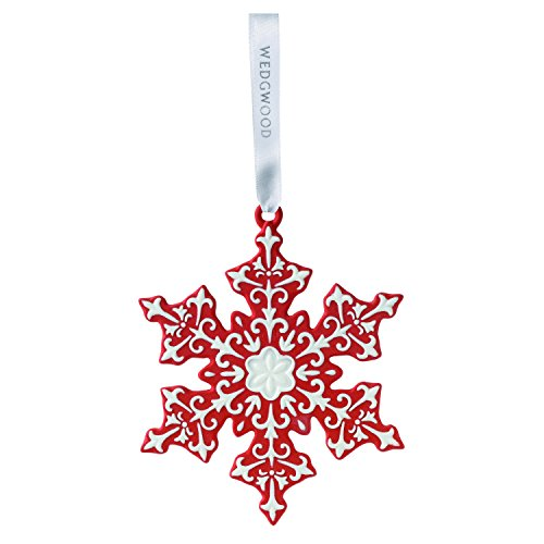 Wedgwood Snowflake Christmas collection, Red