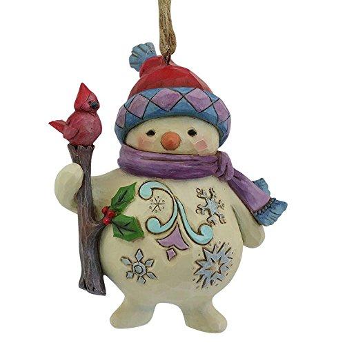 Enesco Jim Shore Heartwood Creek Snowman/Cardinal Branch Ornament
