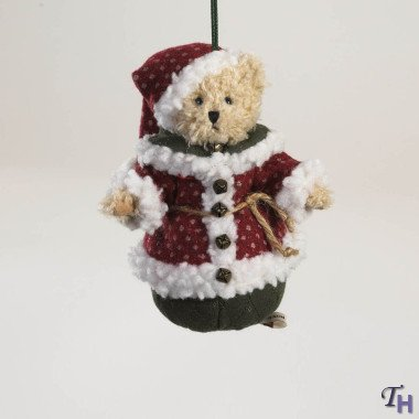 Lil' Nicky Kringle-Klaus by Boyds Bears 6″ Santa Bear Hanging Ornament (Fashion Families Holiday Kr