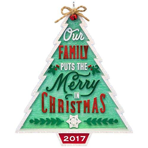 Hallmark Keepsake 2017 Our Family…Our Christmas Tree Dated Christmas Ornament