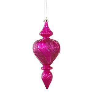 Vickerman 7″ Cerise Candy Finish Finial Christmas Ornament, 3 per Box