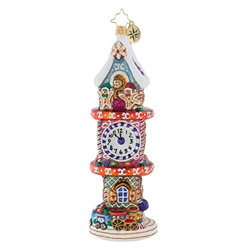 Christopher Radko Sugary Time Piece Candy & Sweets Christmas Ornament