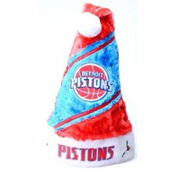 Detroit Pistons NBA Colorblock Himo Plush Santa Hat